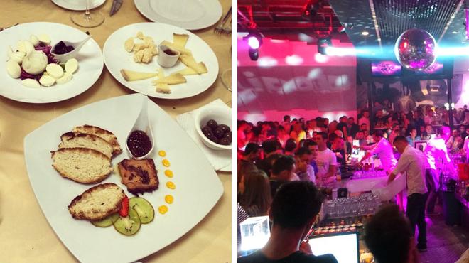 Italian restaurant ⇨ Nightclub