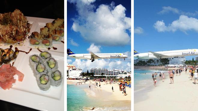 Sushi restaurant ⇨ Beach ⇨ Bar