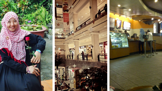 Admire art ⇨ Mall ⇨ Coffee shop