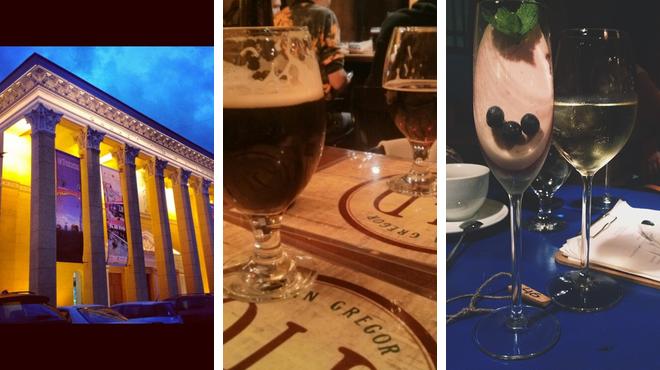 Catch a movie ⇨ Irish pub ⇨ Wine bar