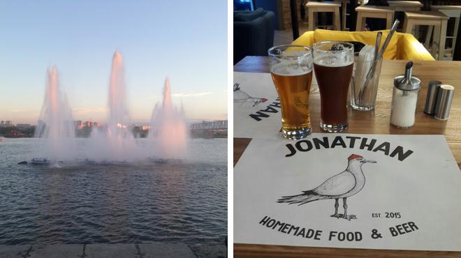 Pedestrian plaza ⇨ Brewery