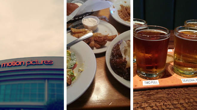 Catch a movie ⇨ Steakhouse ⇨ Brewery