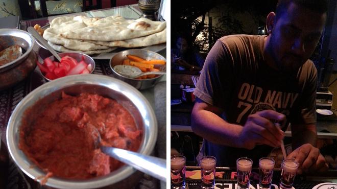 Indian restaurant ⇨ Nightclub