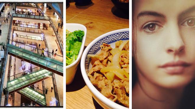 Mall ⇨ Japanese restaurant ⇨ Catch a movie