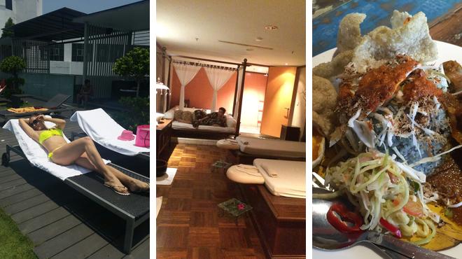 Pool ⇨ Couple's Massage ⇨ Tea room