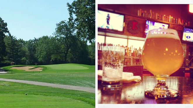 Golf course ⇨ American restaurant