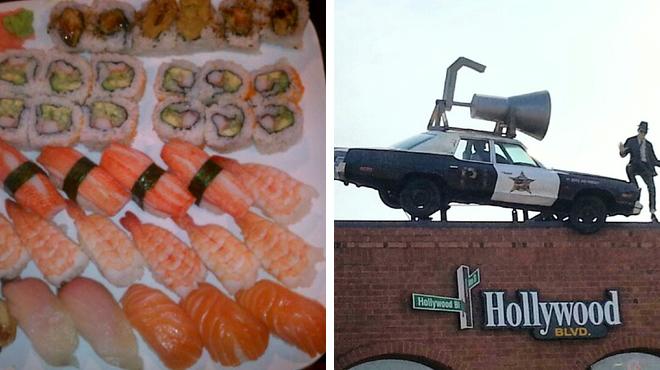 Sushi restaurant ⇨ Catch a movie