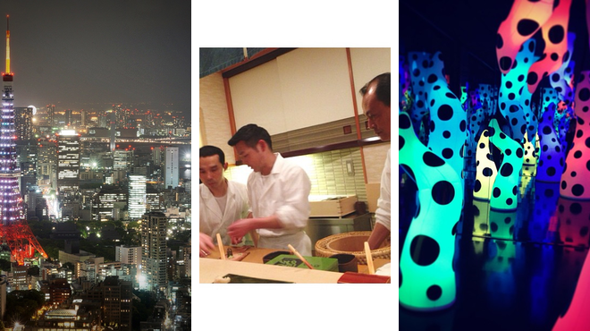 Scenic Views ⇨ Sushi restaurant ⇨ Learn about art