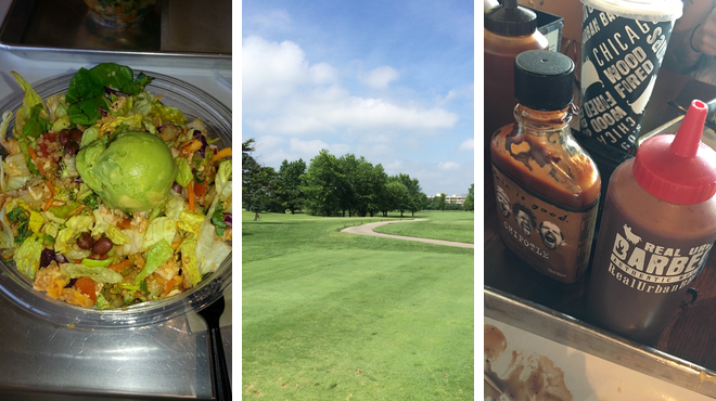 Vegetarian / vegan restaurant ⇨ Golf course ⇨ Bbq joint