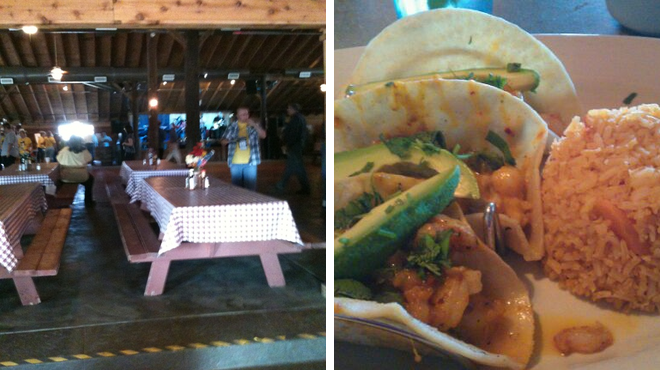 Campground ⇨ Mexican restaurant