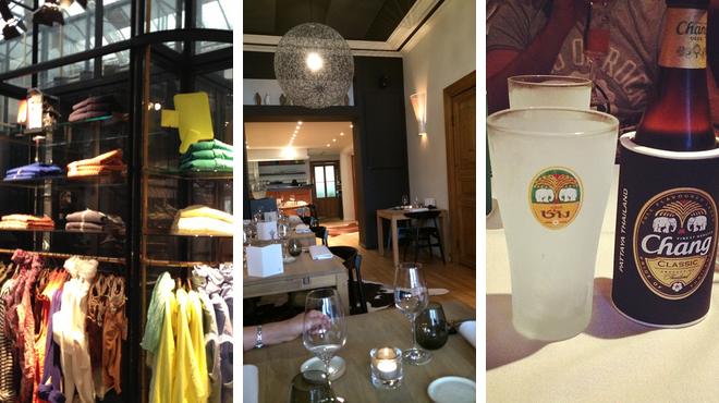 Clothing store ⇨ Restaurant ⇨ Thai restaurant
