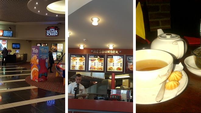 Movie theater ⇨ Restaurant ⇨ Bar