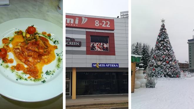 Restaurant ⇨ Movie theater ⇨ Park