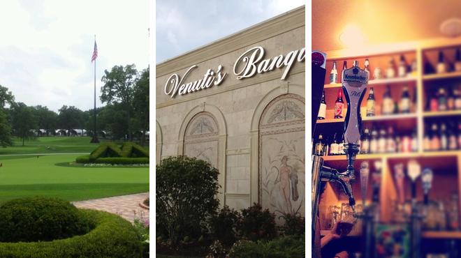 Golf course ⇨ Italian restaurant ⇨ Bar