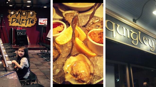 Admire local art ⇨ Seafood restaurant ⇨ Bar