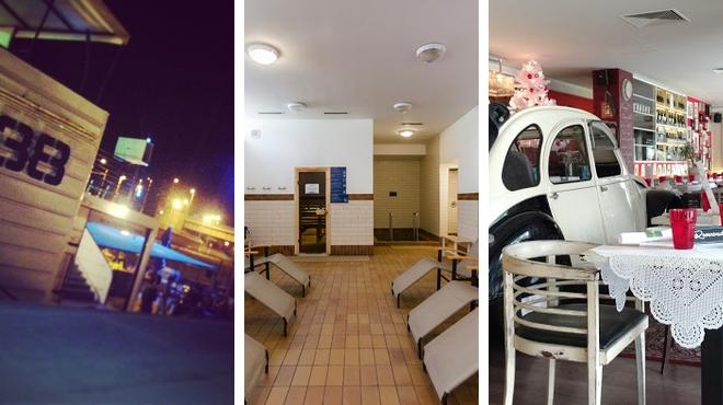 Music venue ⇨ Spa ⇨ Restaurant