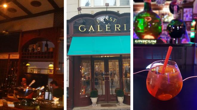 Italian restaurant ⇨ Art gallery ⇨ Bar