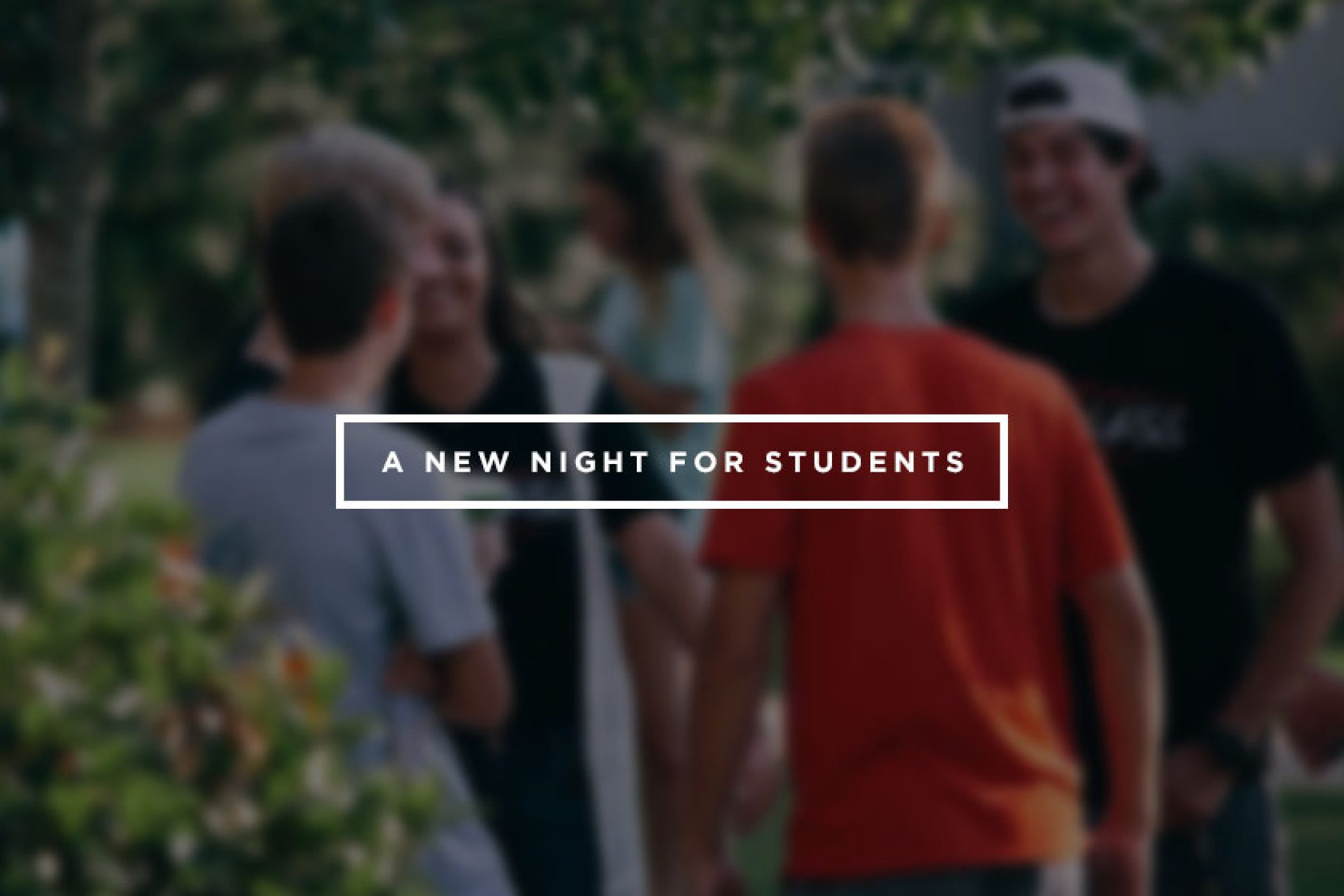 A New Night For Student Ministry