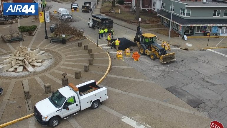 Haynie's Corner Sinkhole Patched, Second Street Reopens