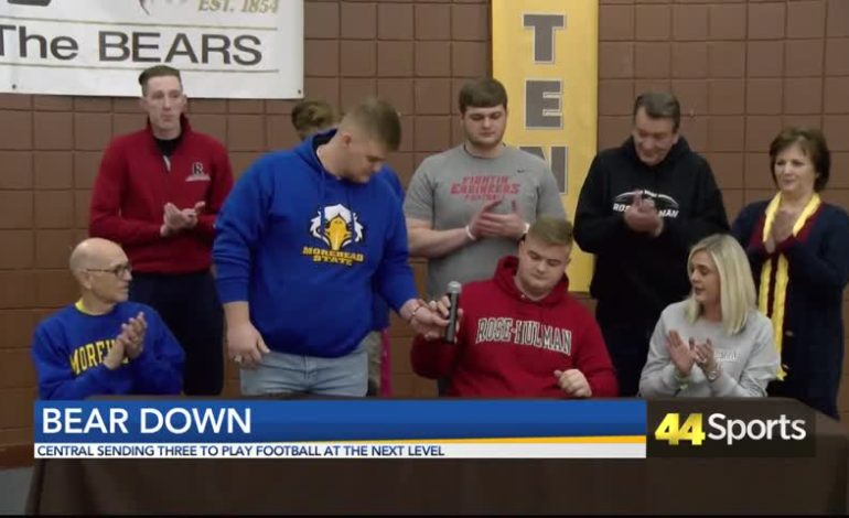 Central Sending Three Bears to Play College Football