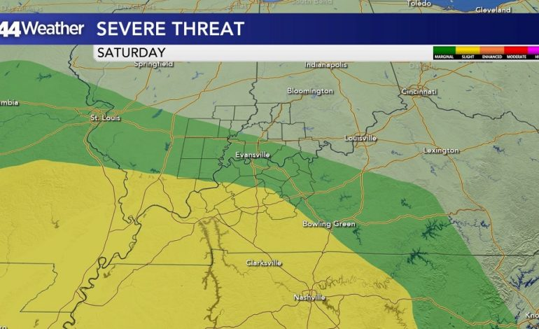Threat of Severe Weather Saturday