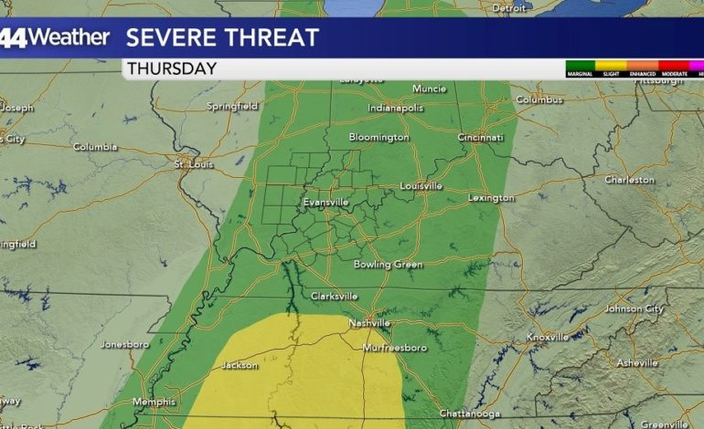 Thursday Threat for Severe Weather