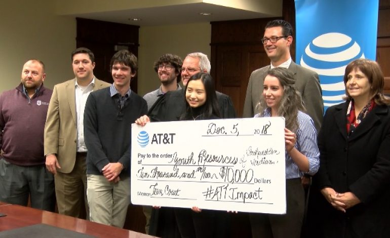 AT&T Donates $10K to Vanderburgh County Teen Court
