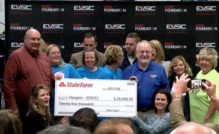 State Farm Awards EVSC's Hangers Large Donation