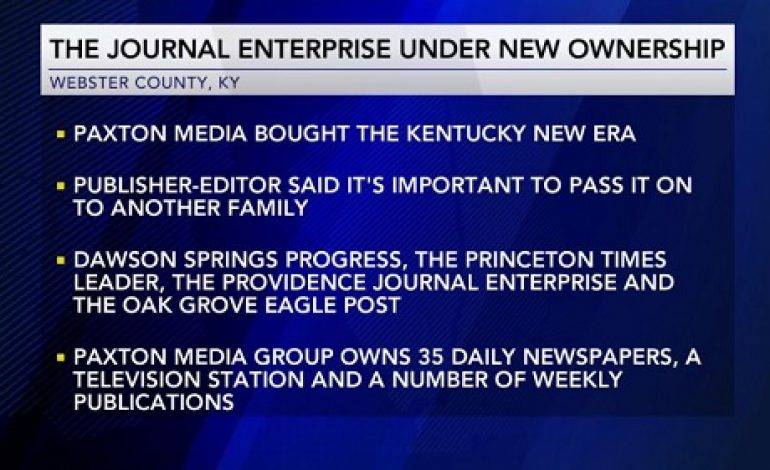 Journal Enterprise Purchased by Paxton Media