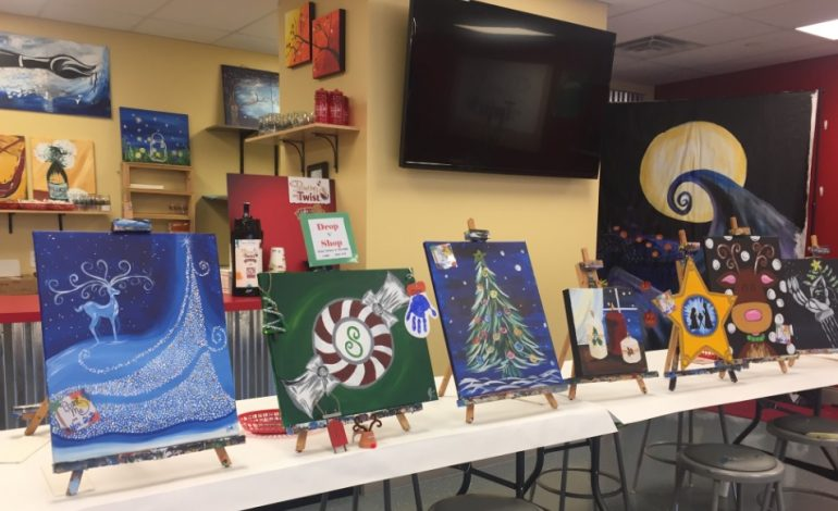 Painting With A Twist Offers Personalized Christmas Creations