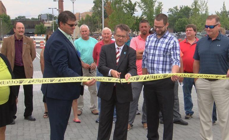 Streetscape Reopens After Stone Family Center Dedication