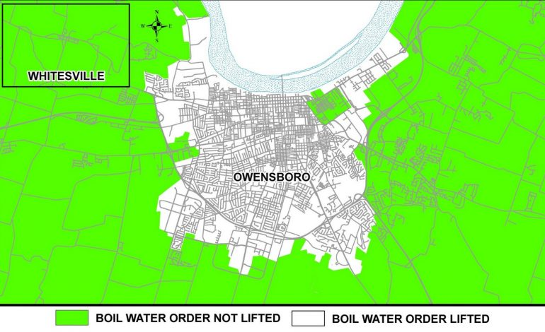 Boil Water Order Lifted for Much Of Owensboro