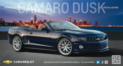 Dusk Special Edition Camaro to be available for 2013
