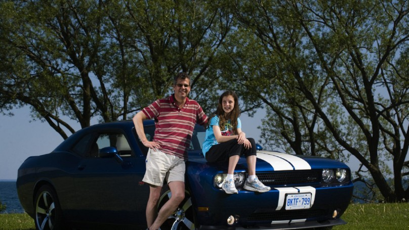 A dad, his daughter and a Dodge
