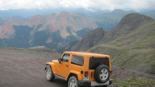 Taking it to the top in a Jeep