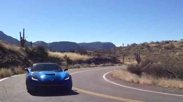 All-new Corvette Stingray spotted roaming the desert