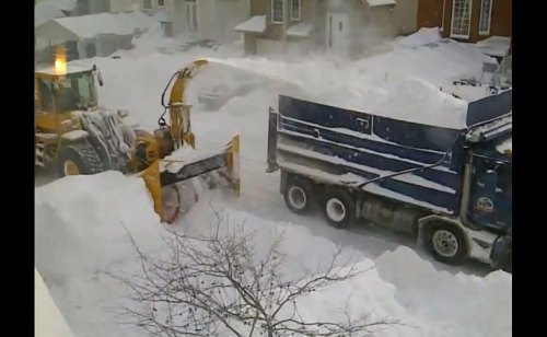 This is how they clean up after a snow dump in Montreal