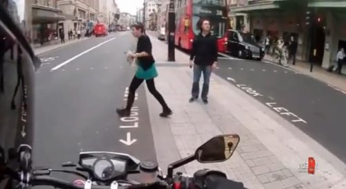 Insider Report: Biker has some fun with pedestrians at crosswalk