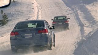 Tire testing Subaru, Camry and Accord