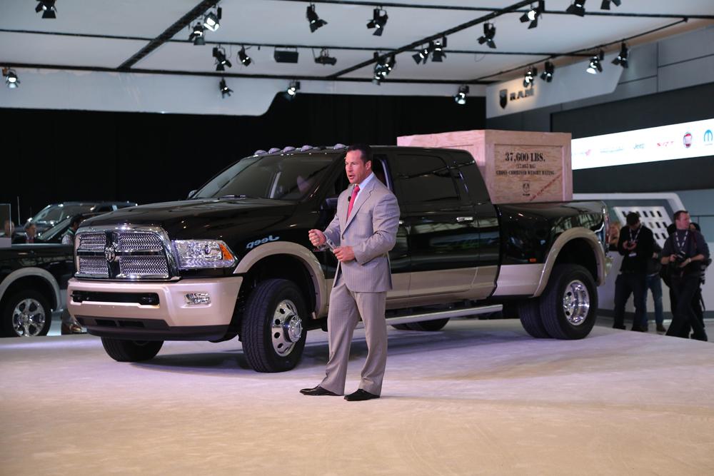 Reid Bigland, CEO of Dodge, unveils the new Ram Pickup. (Rene Johnston/ Toronto Star)