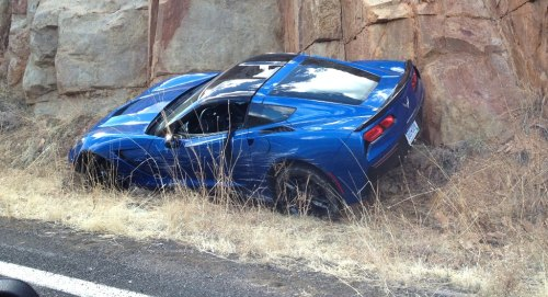 Insider Report: 2014 Corvette Stingray wrecked in Arizona