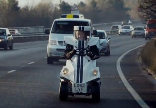 Top Gear's Jeremy Clarkson drives the 'world's smallest car'