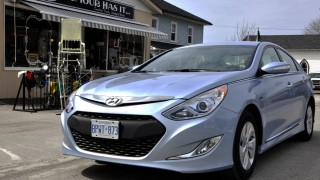 Sonata Hybrid Blue Drive <br>sports plenty of green