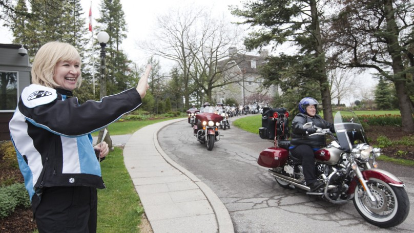 Laureen Harper rides the trail