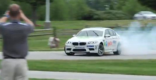BMW slides into record books <br>with continuous 82.5km drift