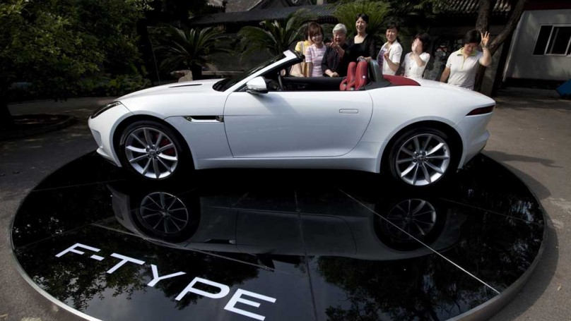 Beckham donates Jag to charity