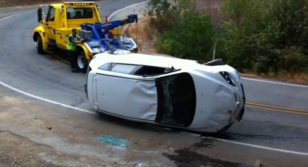 Epic tow truck fail captured on video