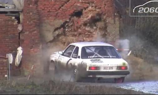 Insider Report: Rally driver demolishes brick shed with his Opel