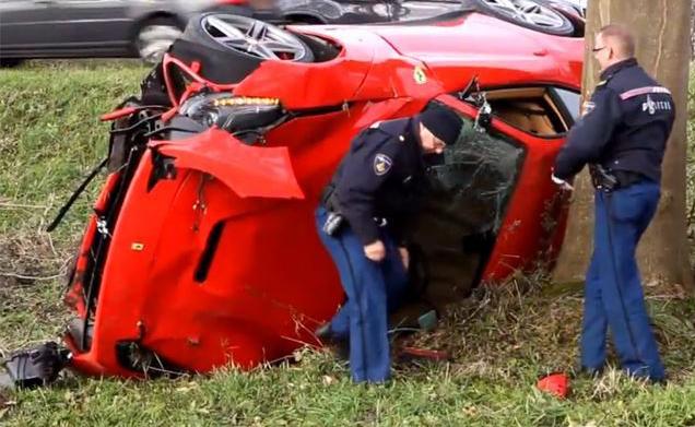 Ferrari takes man for test drive. Man fails.
