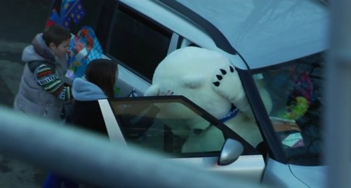 Insider Report: Sochi bear's big head can't fit in a car